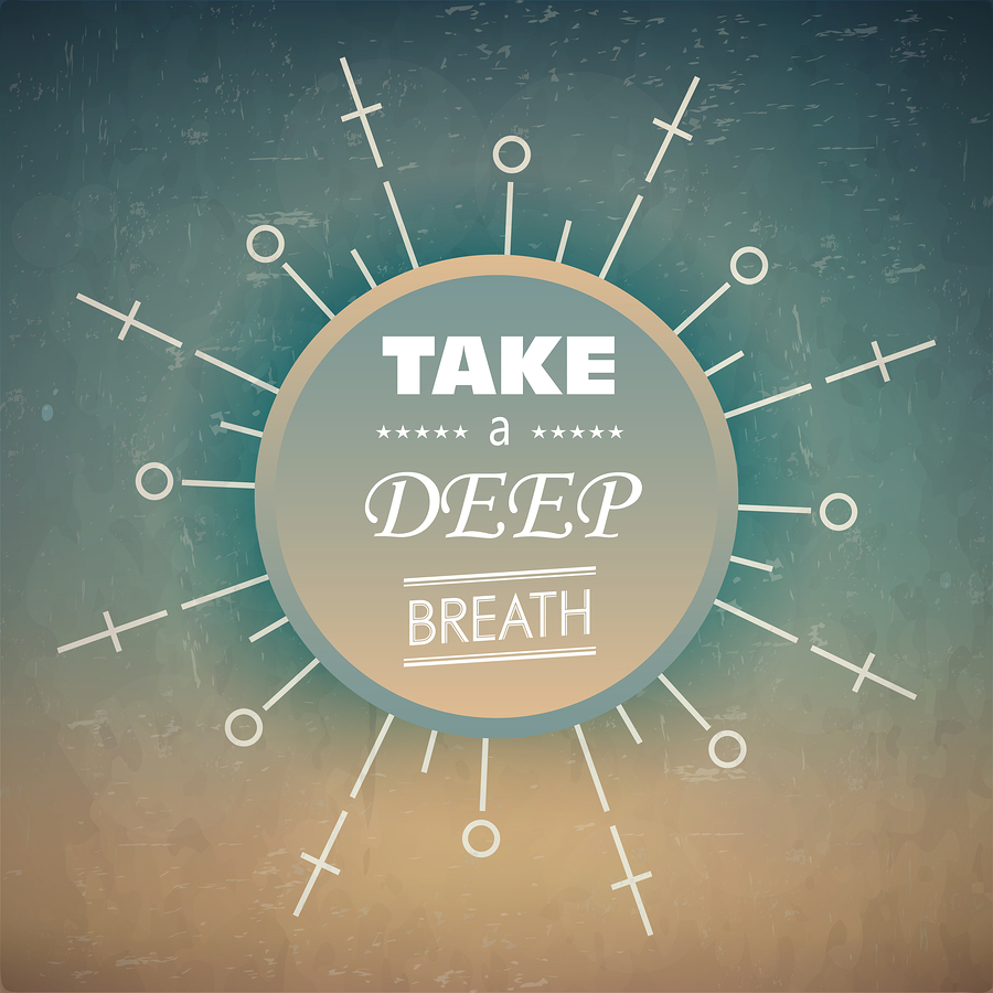 A deep breath. Reset. Recalibrate.