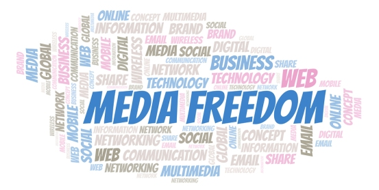 Media Freedom Word Cloud. Word Cloud Made With Text Only.